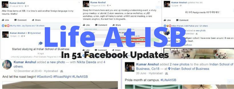 Life at ISB in 51 FacebookUpdates