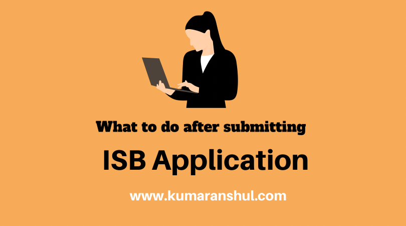 What to do after submitting ISBApplication?